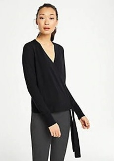 Ann Taylor Extrafine Merino Wool Wrap Sweater