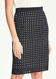 Ann Taylor Eyelet Pencil Skirt