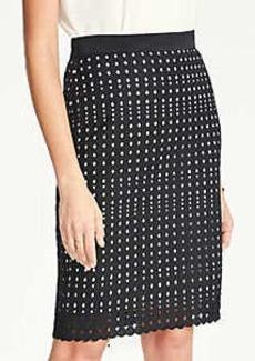 Ann Taylor Eyelet Pencil Skirt