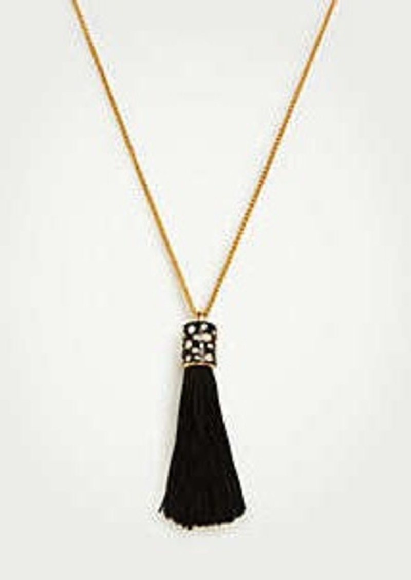 Ann Taylor Fabric Tassel Pendant Necklace