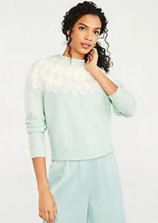 Ann Taylor Fair Isle Mock Neck Sweater