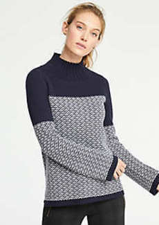 Ann Taylor Fairisle Turtleneck Sweater