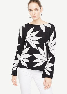 Fan Floral Bell Sleeve Sweater