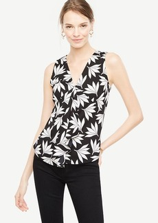 Fan Floral Handkerchief Top