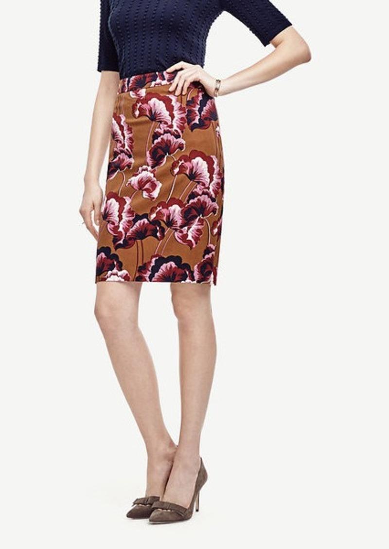 Ann Taylor Fanned Floral Pencil Skirt