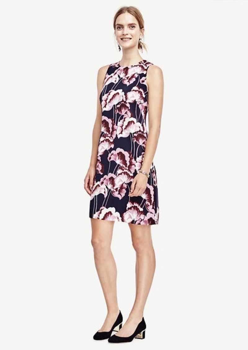Ann Taylor Fanned Floral Shift Dress