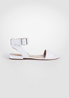 Ann Taylor Farrah Leather Flat Sandals