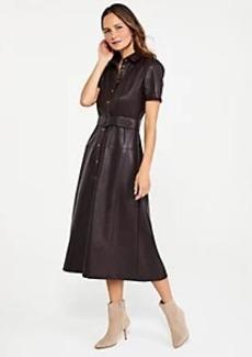 Ann Taylor Faux Leather Midi Dress