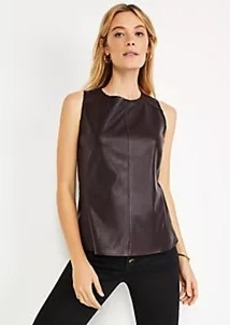 Ann Taylor Faux Leather Shell