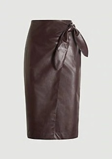 Ann Taylor Faux Leather Wrap Pencil Skirt