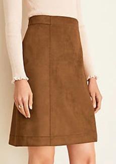 Ann Taylor Faux Suede A-Line Skirt