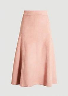 Ann Taylor Faux Suede Midi Skirt