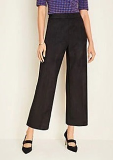 Ann Taylor Faux Suede Wide Leg Crop Pants