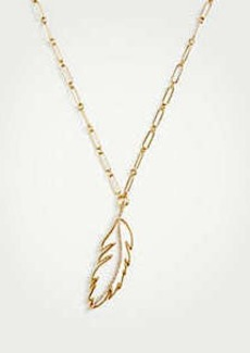 Ann Taylor Feather Pendant Necklace