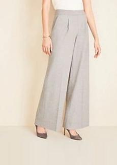 Ann Taylor Flannel Pleated Wide Leg Pants