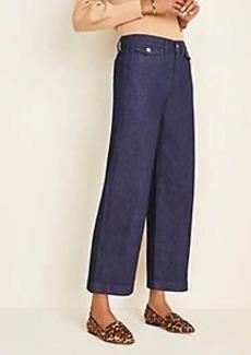 Ann Taylor Flap Pocket Wide Leg Crop Jeans