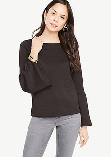 Ann Taylor Flare Sleeve Knit Top
