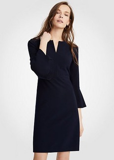 Ann Taylor Flare Sleeve Sheath Dress