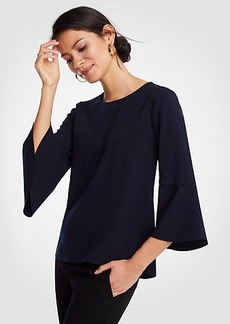 Ann Taylor Flare Sleeve Top