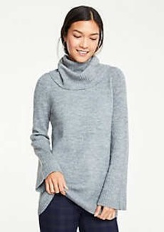 Ann Taylor Flare Sleeve Turtleneck Tunic Sweater