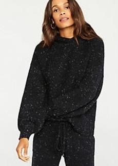 Ann Taylor Flecked Hoodie Sweater