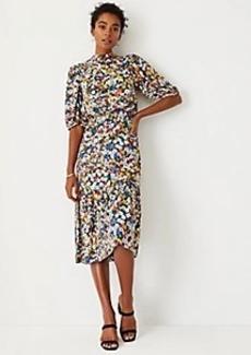 Ann Taylor Floral Blouson Dress