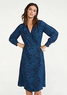 Ann Taylor Floral Button Wrap Dress