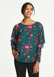 Ann Taylor Floral Cascade Sleeve Blouse