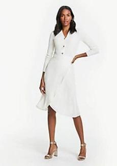 Ann Taylor Floral Clip Jacquard Wrap Skirt
