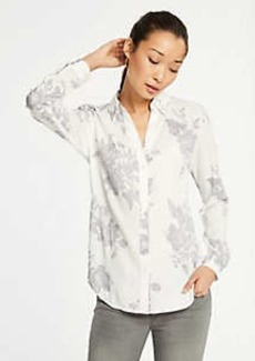 Ann Taylor Floral Essential Button Down Blouse