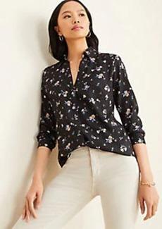 Ann Taylor Floral Essential Shirt