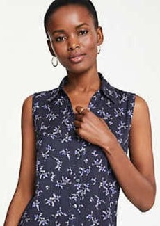 Ann Taylor Floral Essential Sleeveless Shirt
