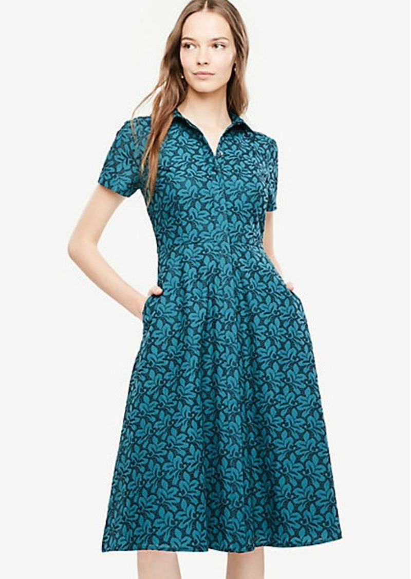 On Sale Today Ann Taylor Floral Eyelet Flare Shirt Dress