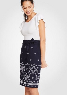Ann Taylor Floral Eyelet Pencil Skirt