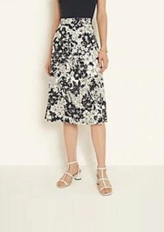 Ann Taylor Floral Eyelet Skirt