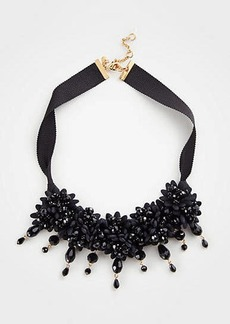 Ann Taylor Floral Fabric Statement Necklace