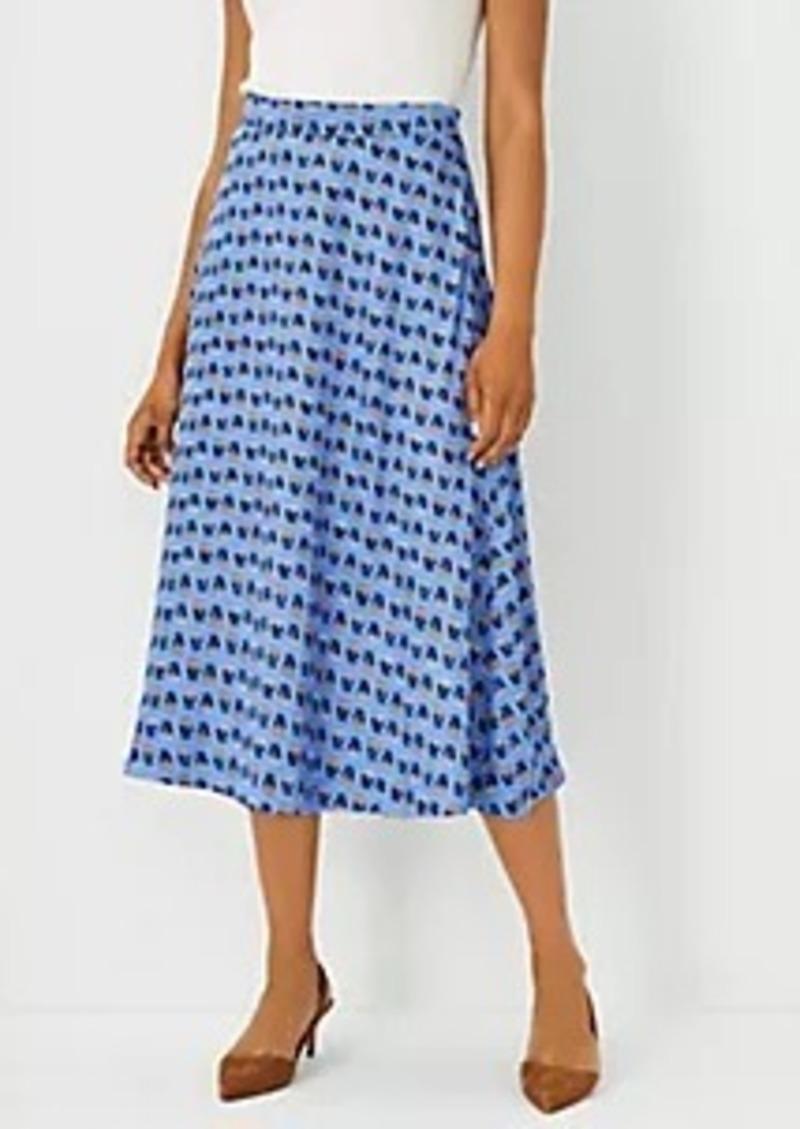 Ann Taylor Floral Full Midi Skirt