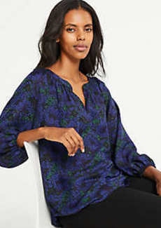 Ann Taylor Floral Full Sleeve Blouse