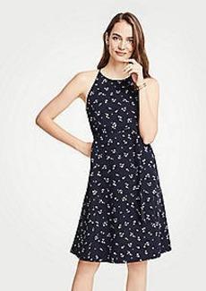 Ann Taylor Floral Halter Flare Dress