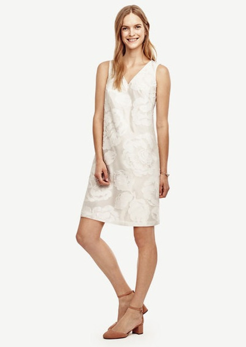 Ann Taylor Floral Jacquard Shift Dress