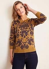 Ann Taylor Floral Jacquard Sweater
