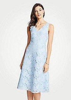 Ann Taylor Floral Lace Flare Dress
