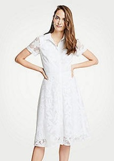 Ann Taylor Floral Lace Shirtdress