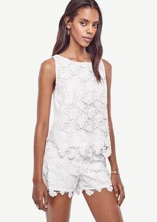 Ann Taylor Floral Lace Shorts
