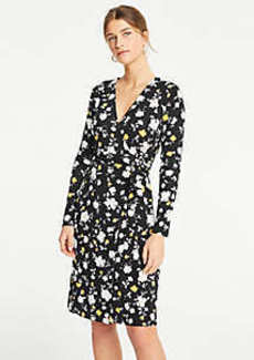 Ann Taylor Floral Matte Jersey Wrap Dress