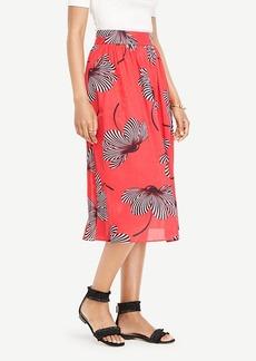 Ann Taylor Floral Midi Skirt
