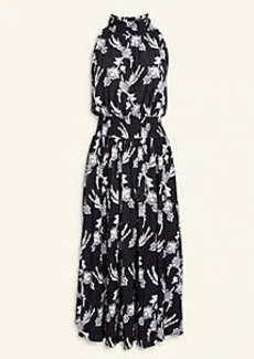 Ann Taylor Floral Mock Neck Flare Dress