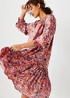 Ann Taylor Floral Ruffle Swing Dress