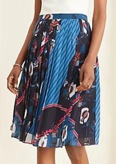 Ann Taylor Floral Scarf Print Pleated Skirt