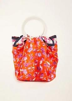 Ann Taylor Floral Scarfed Bucket Bag